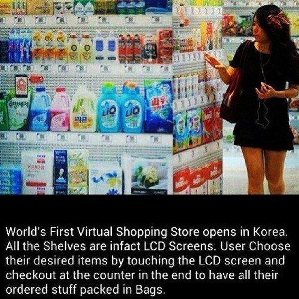 Future of shopping. imagine walmart had this. World' s First Virtual Shopping Store opens in Korea. All the Shelves are infect LCD Screens. User Choose their de asdasdasdas