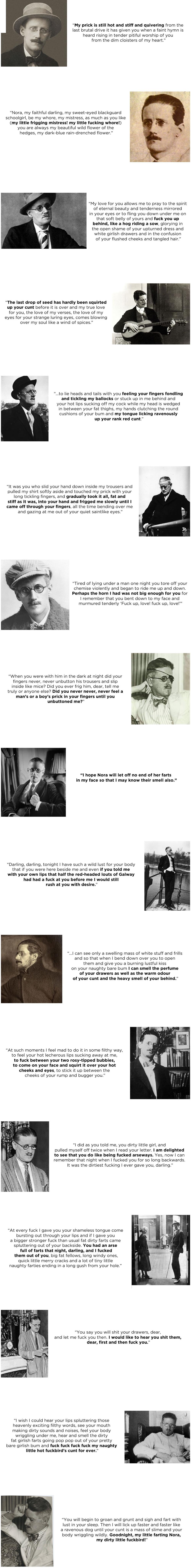 James Joyce's Love Letters. beautiful. james joyce Love fuck