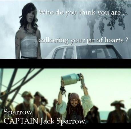 Jar of hearts. . CAPTAIN Jack Sparrow. jar of hearts jack sparrow