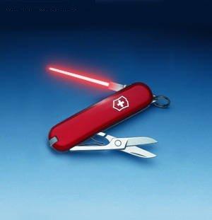 Jedi Swiss Army Knife. Cuz a lightsaber is better than a knife.. swiss army knife star wars lightsaber