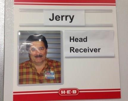 jeremy loves his job. . Head Receiver. He looks a little bit like Ron Swanson. jeremy loves his job Head Receiver He looks a little bit like Ron Swanson