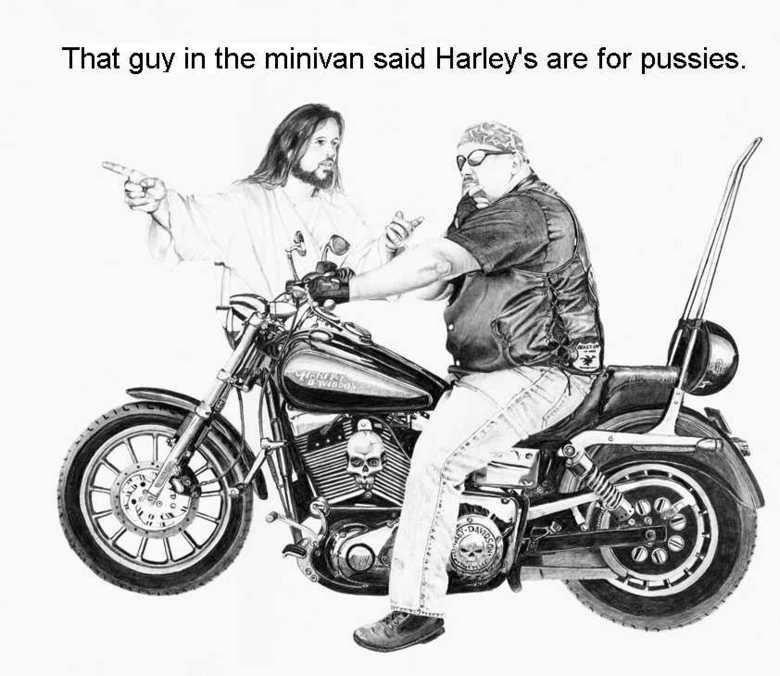 """Jesus on Harleys. .. repost of """"jesus and pals"""" Jesus harley"""