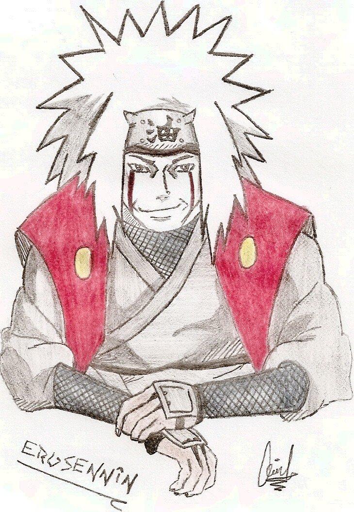 Jiraiya Sensei , My drawing .... .. I like it, but it would receive more praise on the art board and anime board. jiraiya drawing erosennin Anime manga Naruto sasuke