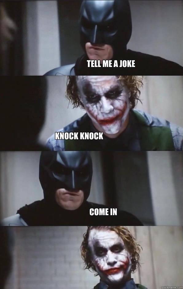 Joker tells a joke. . Joker tells a joke