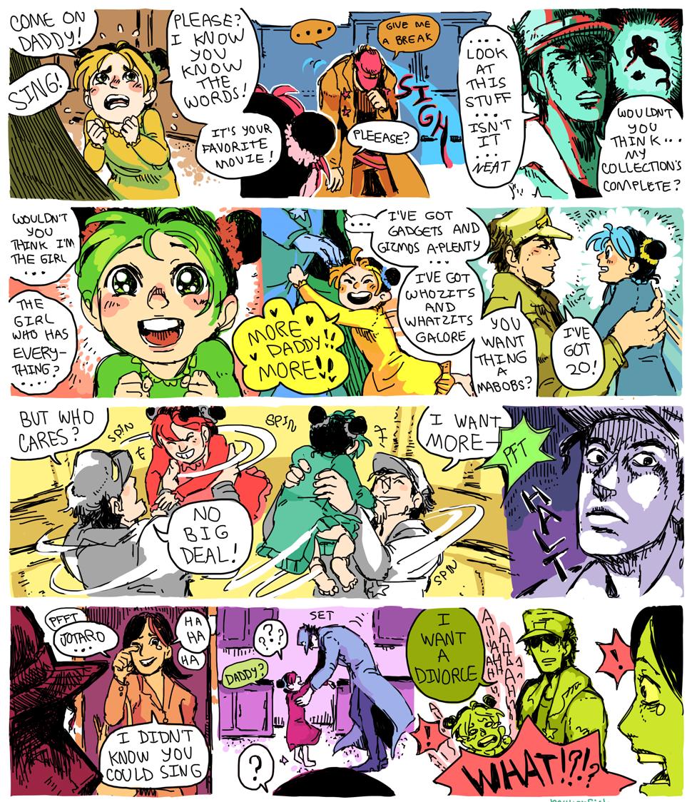 Jotaro sings. Found on the interwebz. Source: Jojo's Bizarre Adventure. JoJos bizarre adventure jotoro jolyne