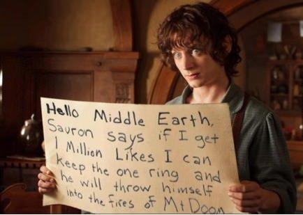 just frodo!. .. Take them all. just frodo! Take them all