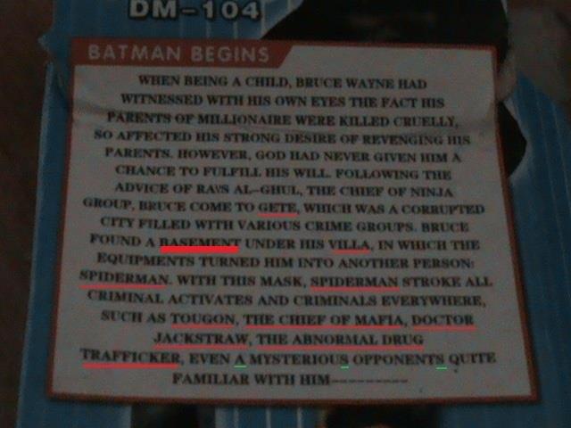 NANANA! WTF!?. You think you knew everything about Batman? Well, think again!. BM 0412,? 3 mum. Hill: with 1: -warn mum um: A MINI. HIE NIH. 'gamergirl' ral '.  batman