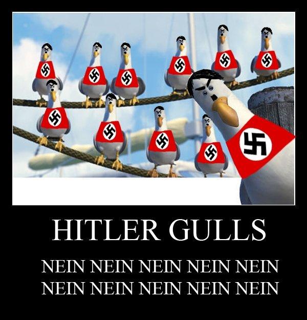 NEIN. . HITLER GULLS Hitler gulls nein