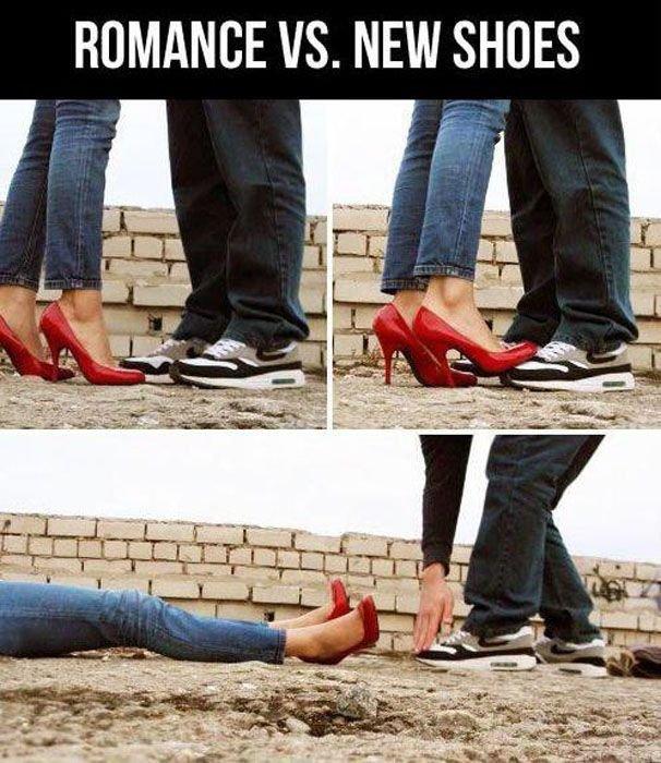 New Romance. .. did... did you just scuff my Nikes? romance Nike FUNNYJUNK