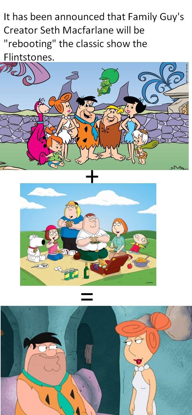 New Flintstones (read descrip). Source: I hope it dosen't suck a donkey dick. the classic show the reapeating Flintstones family guy FLINTSTONES