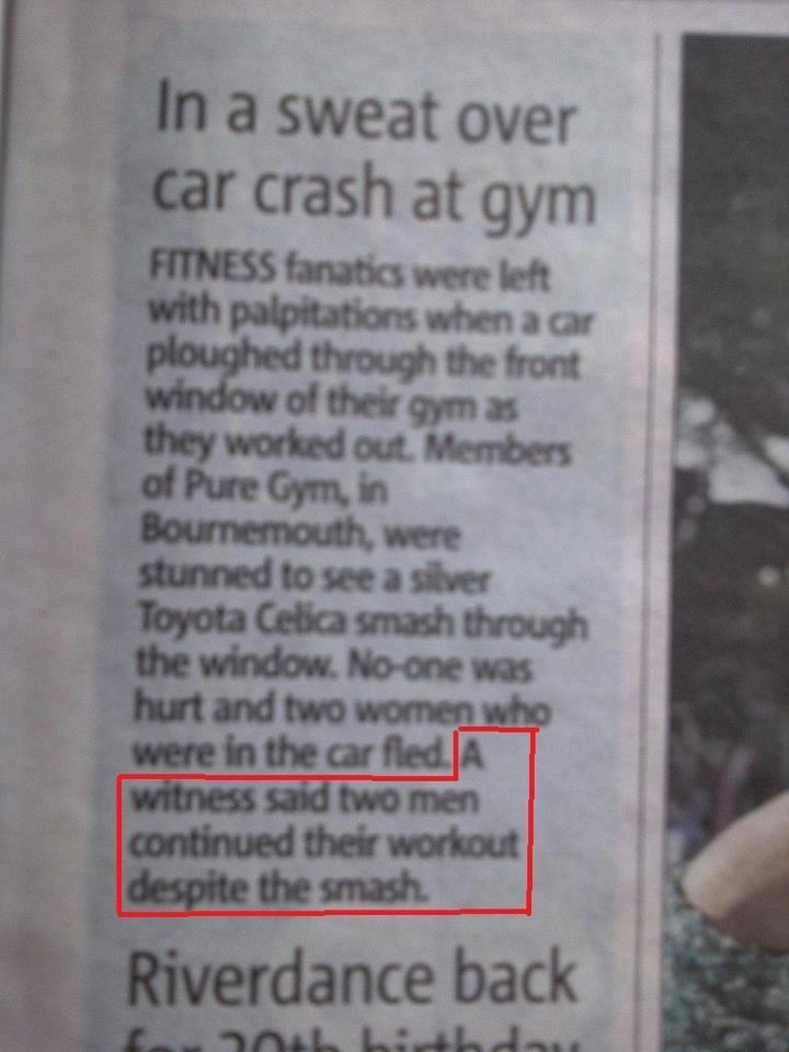 No excuses.. Description... TFW the crash. Do you even lift