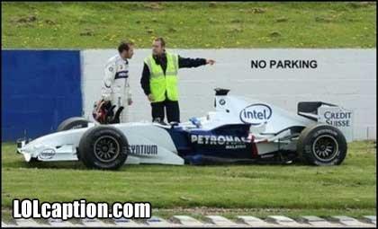 No parking. No exceptions!. Racing Cars