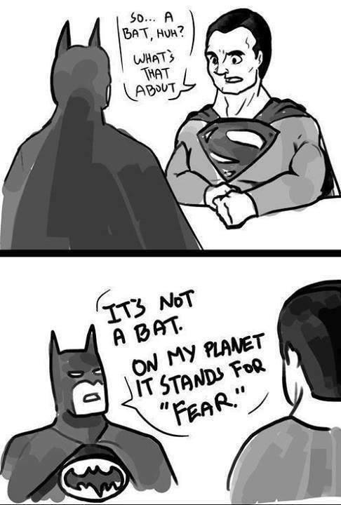Nolan's Batman meets Snyder's Superman. Source: Imgur.. Fearman and Hopeman: The Movie. Nolan's Batman meets Snyder's Superman Source: Imgur Fearman and Hopeman: The Movie