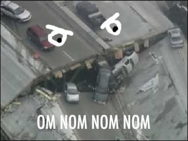 Nom Bridge. It'll eet chu.. NOM Nom Bridge It'll eet chu NOM