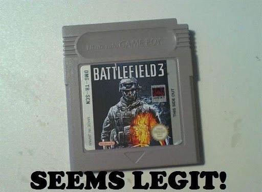 Now for Game Boy. Battlefield 3: Game boy Edition. battlefield game
