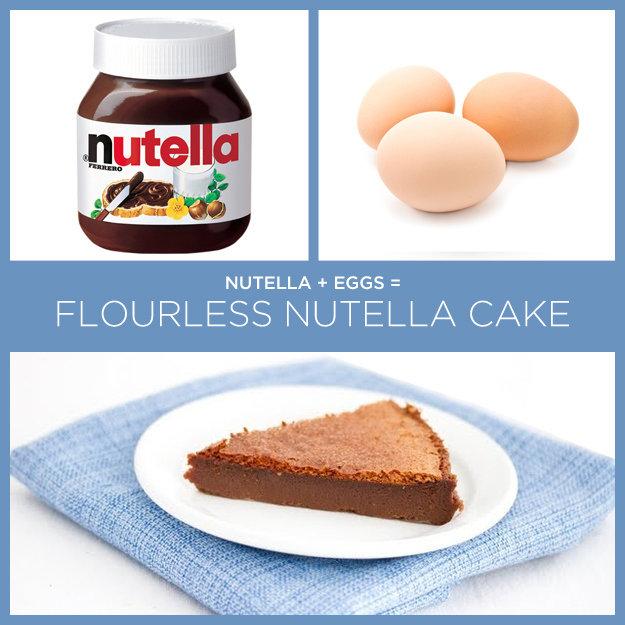 Nutella Cake.. Sauce; . NUTELLA + EGGS = i. lla' lilli, |\ ATTELL/ 1' -x CAKE. So if i just smash some eggs and add nutella it makes cake? nutella Cake Recipe
