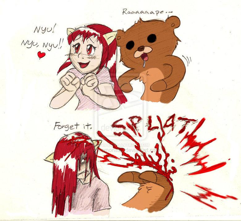 Nyu. Found on DeviantART. Source: mickeymonster.deviantart.com/.. daw what a cute widdle puppy ^_^ elfen lied