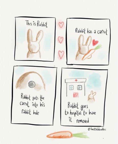 Rabbit Hole. I like big bunny bitches, I like big bunny bitches.. It went exactly what I thought would happen! Rabbit hole