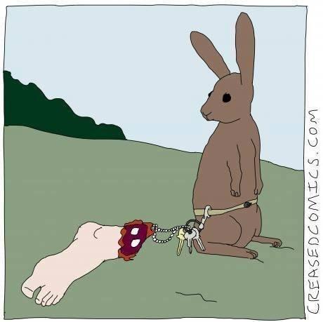 Rabbit logic. .. <- His brother. Rabbit logic <- His brother