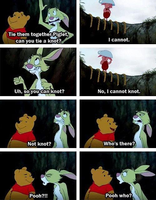 Rabbit Troll. . Tie them ' llort?. t, No, I cannot knot. Not knot? Rabbit Troll Tie them ' llort? t No I cannot knot Not knot?