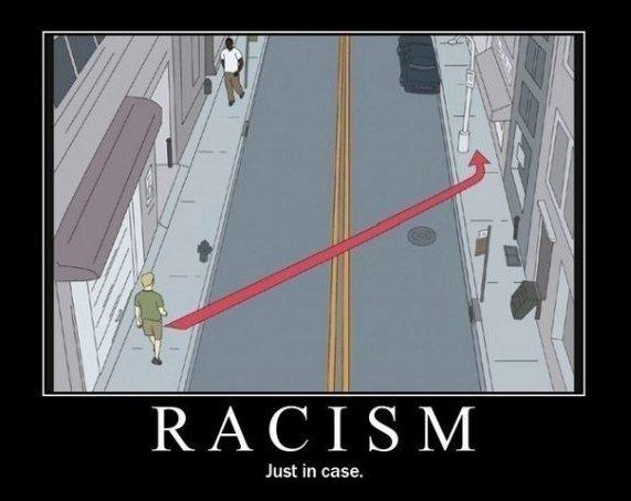Racism. basically a lot of people on funnyjunk.... Justin case. Gavin racism sidewalk walking