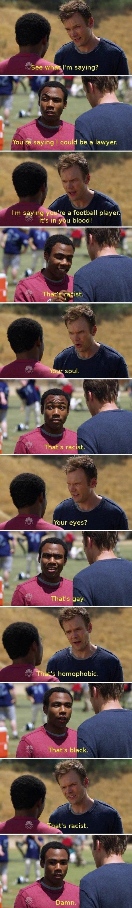 Racist. . a football player, It' s LI blood! Racist a football player It' s LI blood!