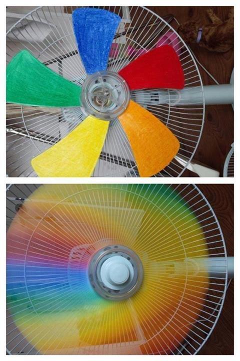 Rainbow Fan. . Rainbow Fan