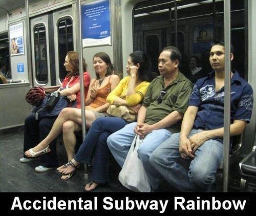 rainbow. taste the..ew. Accidental Subway Rainbow the game