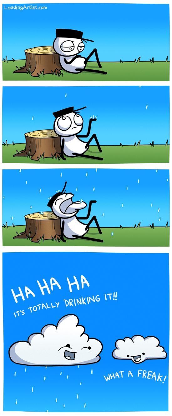 Rainy Days. Credit goes to Loadingartism It's peepee.. Loading Artist rainy day u r Bootyful