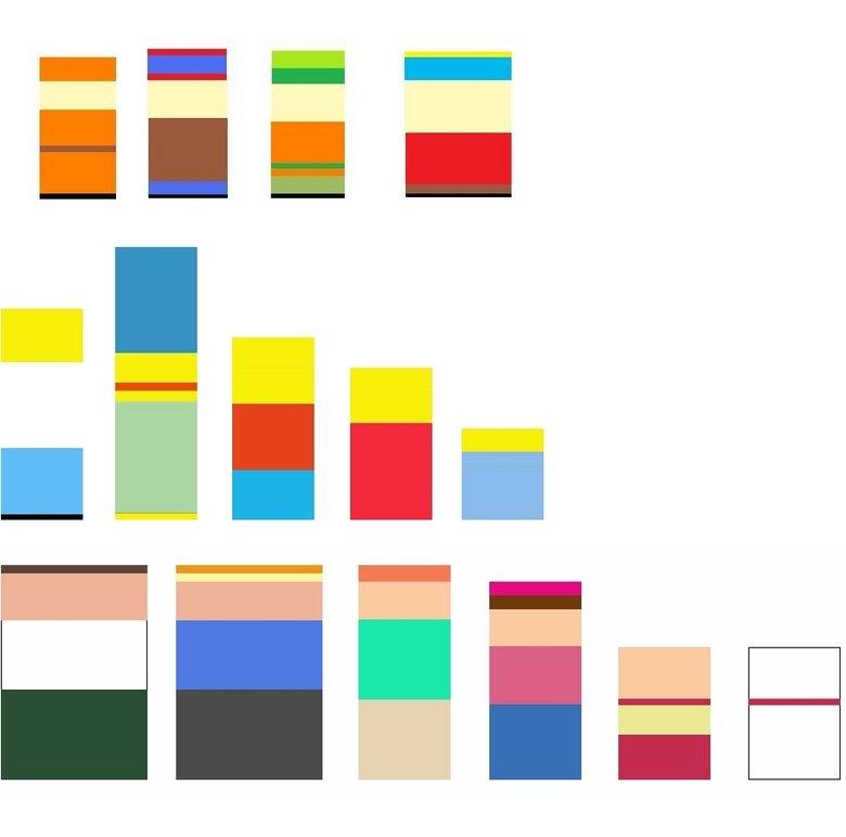 random blocks of color. sub and friend .. I see what you did there... random blocks of color sub and friend I see what you did there