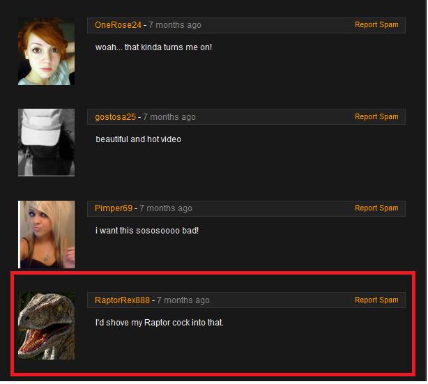 RaptorRex. raptor rex loves it. OC. Woah... that kinda turns me onl beautiful and nowvideo I' d shove my Raptor cock into that.. You're damn right I love it OP. raptor Rex