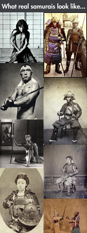 Real life samurais…. Real life samurais… via . What real samurais look like.... what a real NInja looked like funny