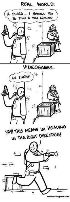 Real Life vs Video Games. . Real Life vs Video Games