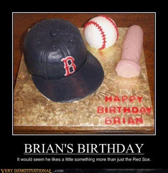 Red Sox's. Nice Bat.. asks for baseball bat cake Birthday Cake Red Sox bat FUNNYJUNK