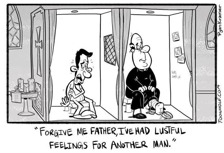 Regular priest. Just a regular Catholics priest.... Catholics priest