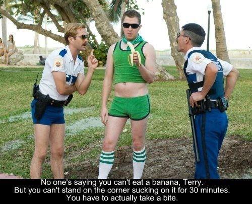 Reno 911. . No lane' s saying you can' t eat s/ banana, Terry. an you cena tnmt.) uerthe. + =;: ureter an it for 30 minutes. mu have tn actually take :1 bite. Reno 911 No lane' s saying you can' t eat s/ banana Terry an cena tnmt ) uerthe + =;: ureter it for 30 minutes mu have tn actually take :1 bite