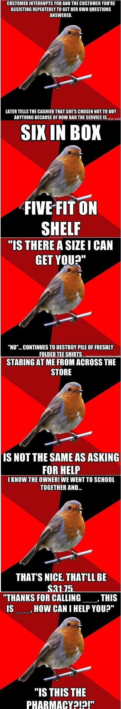 "Retail Robin comp, pt 2. Here's the first one: /funny_pictures/3912163/Retail+Robin+.... INN AHI] m I' VIII' HE IIEK' "" TI] EH NEH WIN BITTEH nus m nun an MR Fl retail robin"