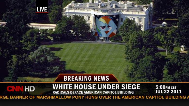 Revolution. found on ED. BREAKING NEWS WHITE HOUSE UNDER SIEGE S: RADICALS DEFINE CAPITOL BUILDING JUL 22 2011 RD is best pony