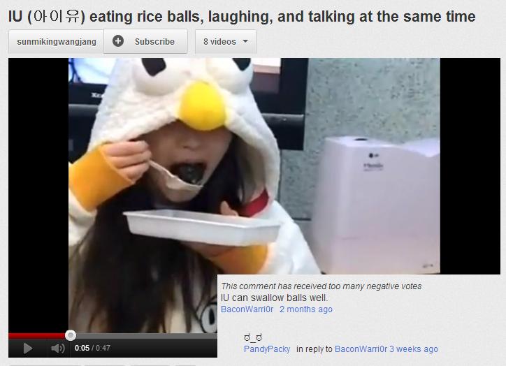 Riceballs. IU gobbling up some riceballs.. Eunhyuk approves Riceballs IU gobbling up some riceballs Eunhyuk approves