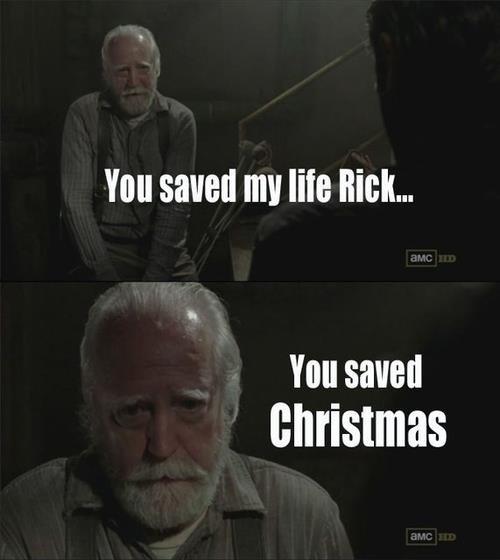 Rick did it!. it gave me a lol i hope you get one as well . hurshel is santa