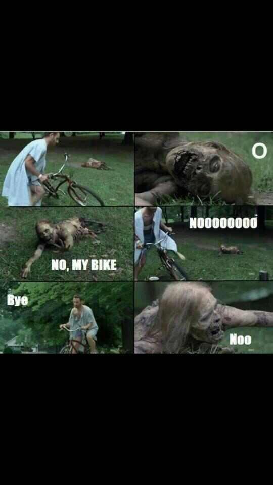 Ricks inner Niger. MY BIKE!!!. black funny stealing Zombie walking bike