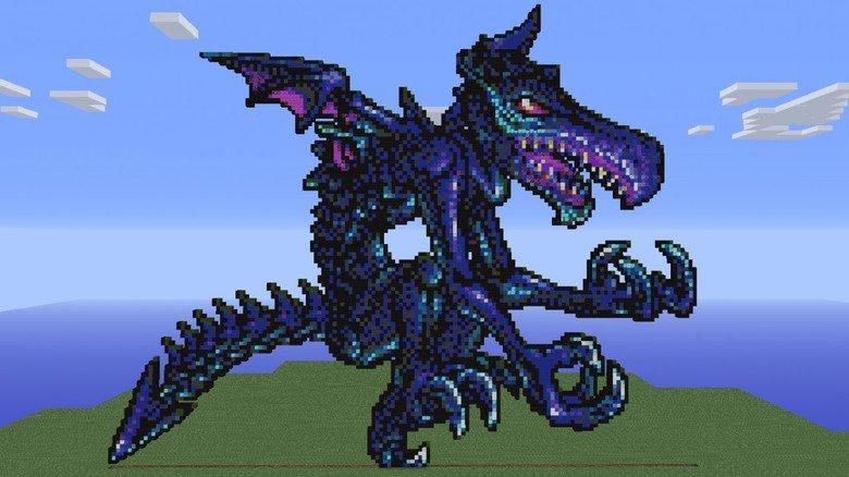 Ridley-X Pixel Art. from metroid fusion.. damn. how wide is it? Metroid Fusion pixel Art ridley X
