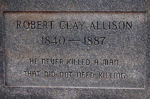 Robert Clay Allison. .. who the is that Robert Clay Allison who the is that