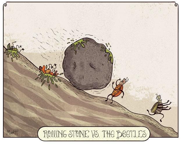 Rolling Stones vs. The Beatles. Not mine )... The Beatles still better. bla zzz