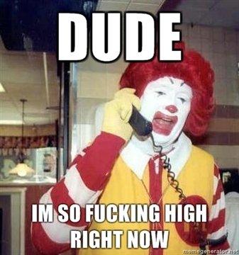 Ronald mcDonald. Yeah i know not a very riginal OC. McDonald Ronald