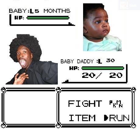 """Run!. found on facebook. EAST 5 , BABY DADDY & in F I """"ark A ITEM. O shi- RUN"""