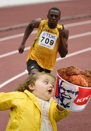 RUN BITCH RUN. better run fast.. I don't even.... KFC nigger Race RUN Racist funny