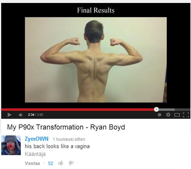 Vagina back. Thats right! . Final . My Transformation - Ryan Boyd his back looks like a vagina Taitaa vagina pussy back Muscles