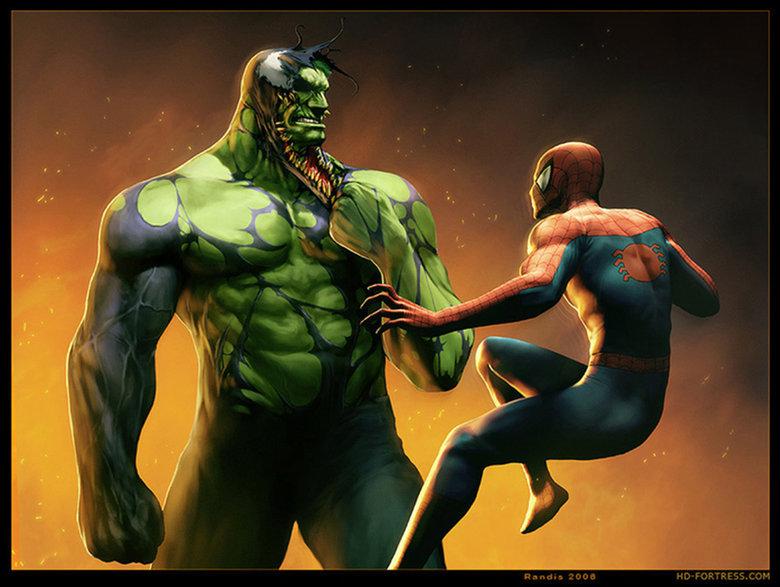 Venom-Hulk vs Spiderman. Found on alternateartlives.blogspot.com/. Venom-Hulk vs Spiderman Found on alternateartlives blogspot com/