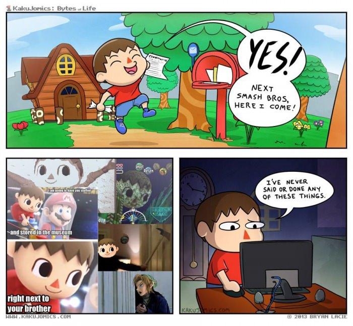 "Villager got misunderstood. . 1"" u' E Hausa DI. WEE Ma; THEIR TIMI' . tight unit tit IMI?. Pikachu likes what he sees Nintendo Super s"